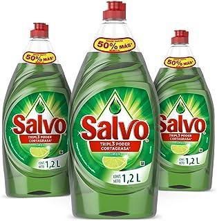 Salvo Limón Lavatrastes Liquido 3 unidades 1.2L, Total 3.6L