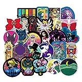 Saicowordist 50 Stücke Anime Sailor Moon Persönlichkeit Aufkleber Reise Trolley Aufkleber Cartoon Wasserdichte Autoaufkleber Doodle Aufkleber Anime Fans Geschenke