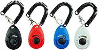 Mumoo Bear Dog Training Clicker with Wrist Strap - Pack of 4