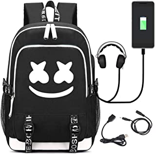 Luminous Backpack Travel Bag Bookbag Laptop Backpack with USB Charging Port