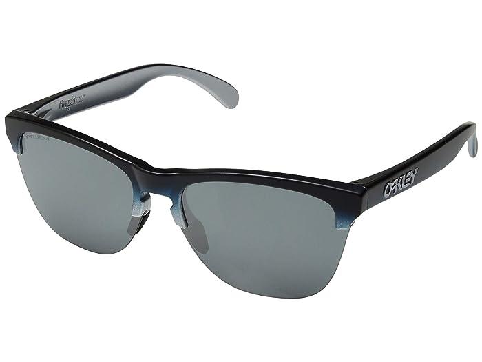 Oakley Frogskins Lite (Black Teal Fade Silver/Prizm Black) Sport Sunglasses