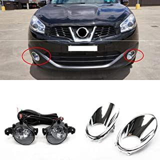 Auto-Tech Fog Lights Lamps Front Bumper Fog Lights Driving Lamps assembly kit For Nissan Qashqai/Dulias 2011-2013