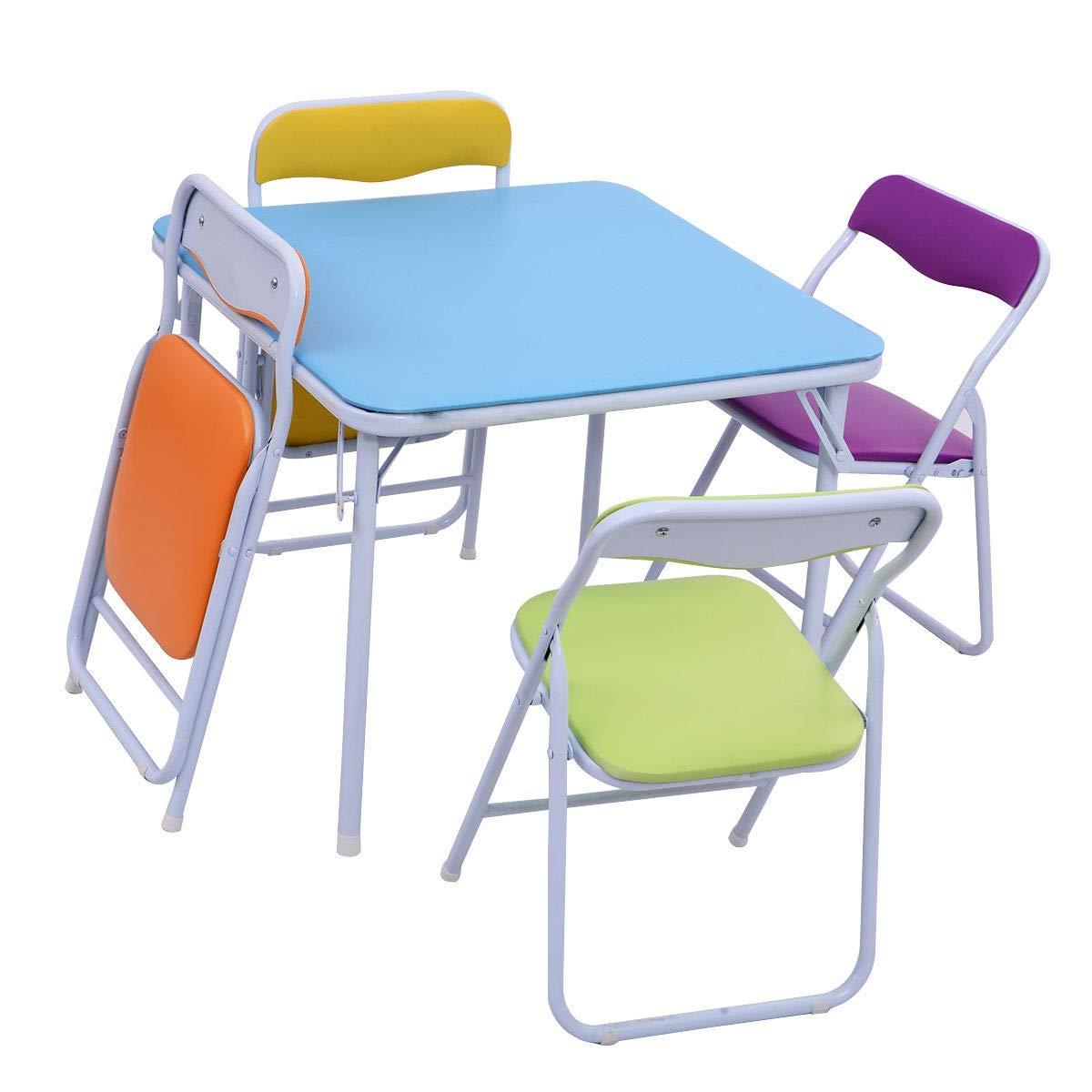 Selva 10 Pcs Multicolor Folding Table Chair Set   Child Safe Heavy ...