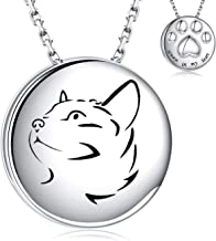 925 Sterling Silver Pet Cremation Pendant for Cat Ashes - Always in My Heart Paw Print Memorial Keepsake Necklace Urn Jewelry for Your Best Pal