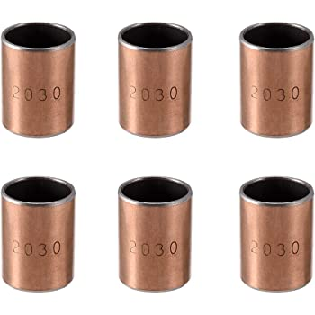 uxcell Sleeve Bearing 20mm Bore x 23mm OD x 20mm Length Plain Bearings Wrapped Oilless Bushings Pack of 6