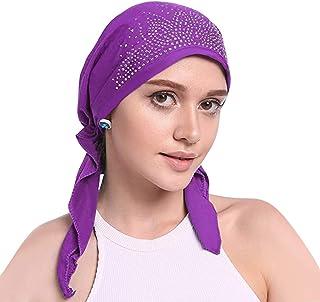 عمامة النساء قبعة عقال رأس إسلامي التفاف بونيه الحجاب قبعة الإسلامي منديل (أرجواني)