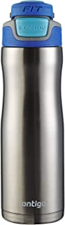 Contigo AUTOSEAL Fit Trainer Stainless Steel Water Bottle, 20 oz, Stainless Steel