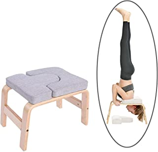 Yoga Headstand Bench Inversion Chair - Stand Yoga Chair for Home Gym - Grey