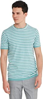 Sponsored Ad - State Cashmere Men's Crewneck T-Shirt Cotton Cashmere Short-Sleeve Sweater Top