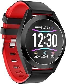 FEDULK Smart Watch Sports Wristband Fitness Tracker Calorie Heart Rate Monitor Sleep Smart Watch(Red)