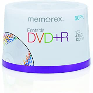 Memorex 4.7Gb/16x Printable DVD+R 50-Pack Spindle