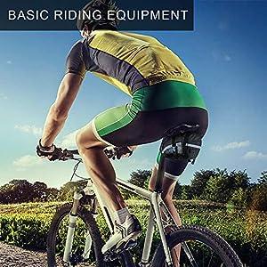 otutun Bolsa para Sillín de Bicicleta impermeable Bolsa de Ciclismo con Soporte