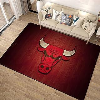 Tritow Tapis de la série NBA Tapis de Salon Chicago Bulls Tapis antidérapant Tapis de Salon Paillasson Facile à Nettoyer T...