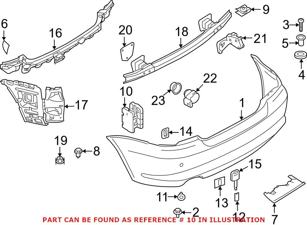 Genuine OEM Rear Quarter Panel Vent E84 Over item handling Tur NEW For X1 BMW 2013-2015