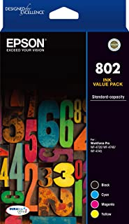 Epson 802 4X Colour Ink Pack - Wf-4720, Wf-4740, WF-4745