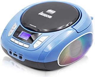 Lauson NXT563 Boombox with Cd Player Mp3 | Portable Radio CD-Player Stereo with USB | Cd Player for Kids | Color Changing ...