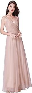 Women's V-Neck Spaghetti Straps Wedding Party Bridesmaid Dress 7369
