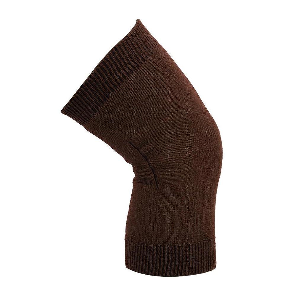 エアコン実行可能インペリアル膝関節のサポート - 膝のサポート、大人の膝パッドのサポートダブル膝のサポート - 膝セットロッククライミングジョギングバレーボール乗馬膝の負傷者男性と女性1ペア(コーヒー)