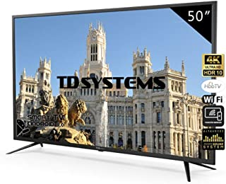 Televisores Smart TV 50 Pulgadas 4K UHD Android 9.0 y HbbTV / 1500 PCI Hz/ HDR10 / 3X HDMI / 2X USB/DVB-T2/C/S2 / TD Systems K50DLJ10US/ TDSystems