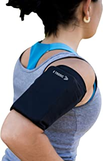 Phone Armband Sleeve Best Running Sports Arm Band Strap Holder Pouch Case Gifts for Exercise Workout Fits iPhone 6 7 8 X 11 Plus iPod Android Samsung Galaxy S8 S9 Note 5 9 Edge. For Women & Men MEDIUM