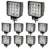 BRIGHTUM 10 x 48W LED Offroad Arbeitsscheinwerfer 4560...