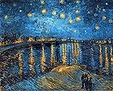 XTmBC Van Gogh Famous Night Vintage Art Print Wall Art Regalo 60x75cm