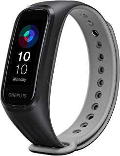(Renewed) OnePlus Smart Band: 13 Exercise Modes, Blood Oxygen Saturation (SpO2), Heart Rate & Sleep Tracking, 5ATM+Water &...