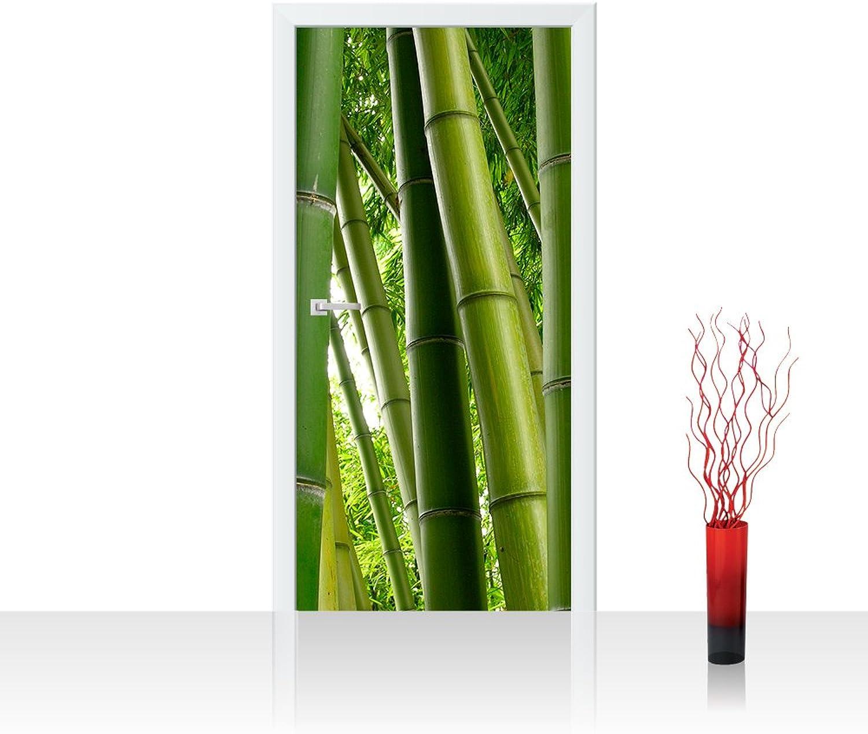 Türtapete selbstklebend kratzfest scheuerfest 100x211 cm cm cm EXTRA PROTECT Türposter Türpanel - PARADISE OF BAMBOO - Bambuswald Bambus Wald Asien Asia Baum Bamboo Way Bambusweg Grün - no. 075 B073X1N5WK cf8609