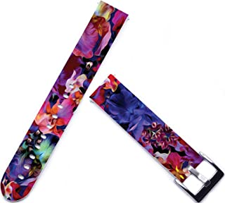 for Withings Activite Pop Wristband,ENDIY 18mm Watch Strap Replacement for Huawei Fit Honor S1/for Asus Zenwatch 2 (1.45)/for Withings Activite Pop Steel/for Lg Watch Style Floral Pattern