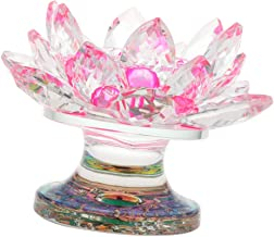 Flameer Crystal Glass Lotus Flower Tea Light Candle Holder Candle Stand Coffee Cafe Bar Tabletop Centerpieces Home Decor -...
