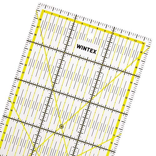 WINTEX righello universale 15 cm x 30 cm, trasparente | regolo per taglierino a rotella, riga per patchwork