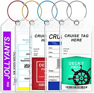 Cruise Luggage Tags Colorful Loops Cruise Essentials Wide Tag Holders Reusable