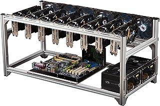 Mining Rigram, Stål Open Air Miner Mining Frame Rig Case Upp till 8 GPU för Crypto Coin Valuta Bitcoin Mining Tillbehör Ve...