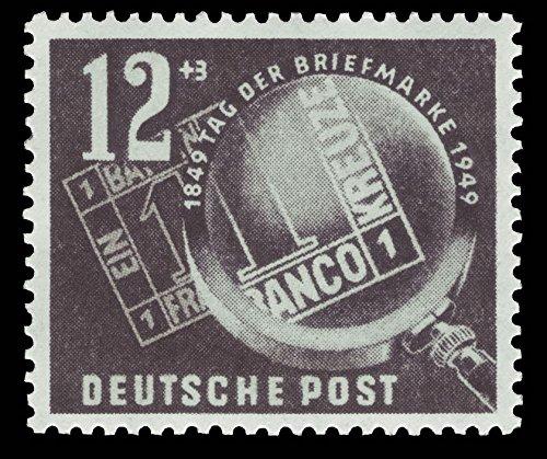 philaseum Briefmarken DDR 1949, Mi. Nr. 245, Tag der Briefmarke, Postfrisch (Mi. 8,00 EUR)