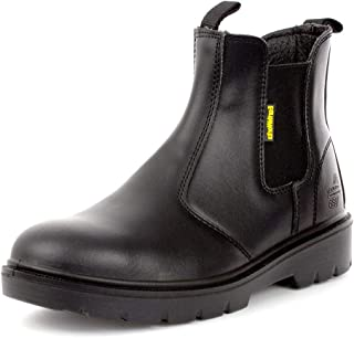 Earth Works Safety - Earth Works Mens Black Leather Chelsea