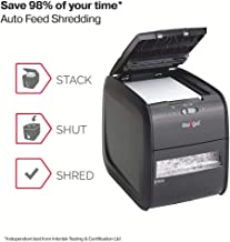 Rexel Auto+ 60X Cross Cut Paper/Credit Card Shredder With 60 Sheet Capacity - Black