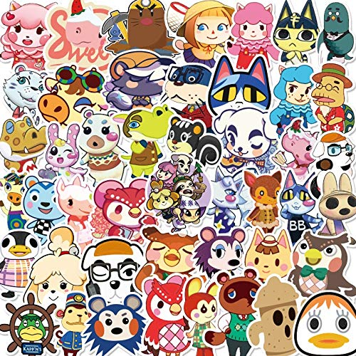 Animal Crossing Sticker Waterproof Cartoon Children'S Toy Mixed Sticker Scooter Bicycle Mobile Phone Laptop Travel 100Pcs