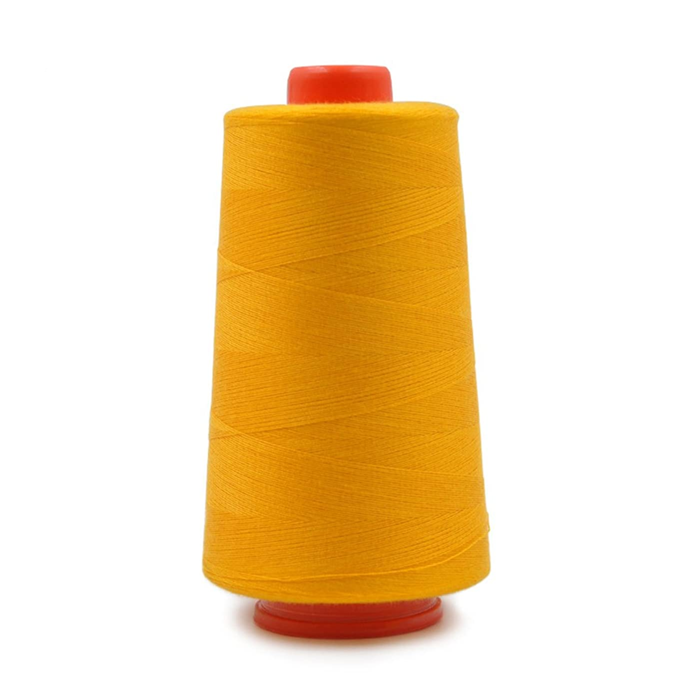 Polyester Sewing Thread Spool for Hand and Machine Sewing 3000 Yards Each Yellow Orange