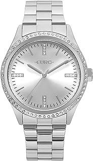 Relógio Feminino Euro Analógico Com Cristais Swarovski Eu2035Ynr/3K Prata