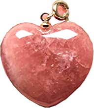 DUOVEKT Necklace Pendant Natural Red Rhodochrosite Jewelry for Woman Man Argentina Crystal Stone 27x13x6mm Beads Gemstone AAAAA