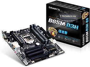 Gigabyte LGA 1150 Intel B85 HDMI SATA 6Gbps USB 3.0 Micro ATX DDR3 1600 Intel Motherboards GA-B85M-D3H