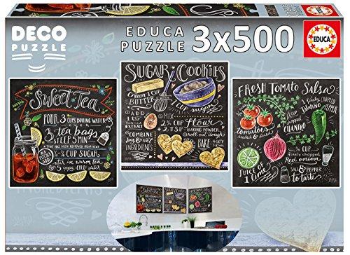 Educa Borrás - Puzzle Lily & Val, 3 X 500 (17094)