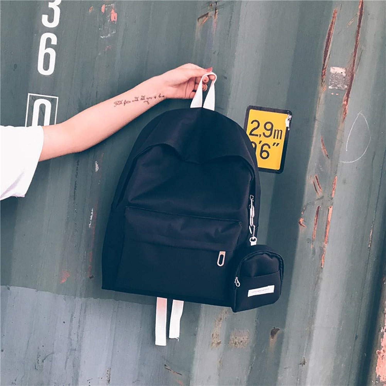 WMQQ Rucksackeinfarbig Zweiteilige Rucksack Dame Rucksack Rucksack Rucksack Studententasche Reisetasche Schwarz B07KPC1NWZ  Berühmter Laden 5b7eb2