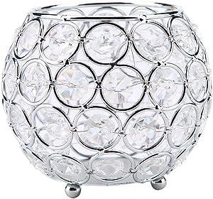 Rose Gold DYNWAVE 6PCS 3D Geometric Tea Light Candle Holders Stands Wedding Centerpieces Home Decor