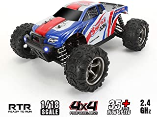 Off Road RC Car, High Speed Remote Control Truck,1:18 Scale 30+MPH 4WD All Terrain Beginners Hobby Toys Car for All Adults &Kids