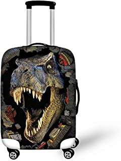 Instantarts Vintage Personalized Dinosaur Luggage Cover Fabric for 26-30 inch Suitcase