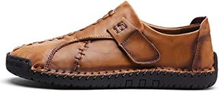 MELLOW SHOP Casual Shoes Men Luxury Design Sneakers Men Genuine Leather Shoes Flat Slip On