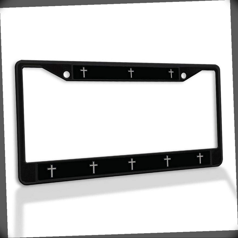 New License Plate Max 61% OFF Frame Cross Black Car Insert Border Cheap bargain Fram Metal