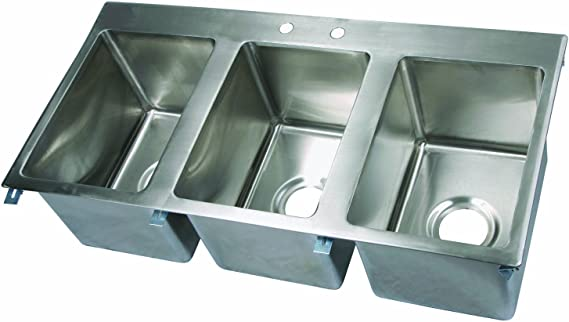 KoolMore 1 Compartment Stainless Steel NSF Commercial Kitchen Prep & Utility Sink with Drainboard - Bowl Size 10