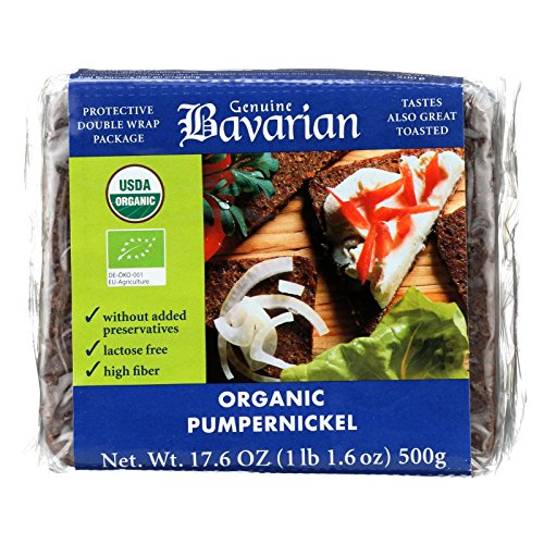 Genuine Bavarian Organic Pumpernickel bread 17.6 oz (6 packages per case)